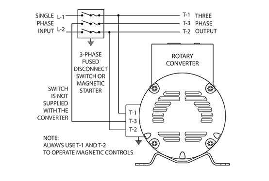 Single Phase To 3 Converter Wiring Diagram